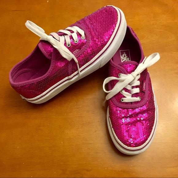 Vans Shoes | Hot Pink Sequin Laceup